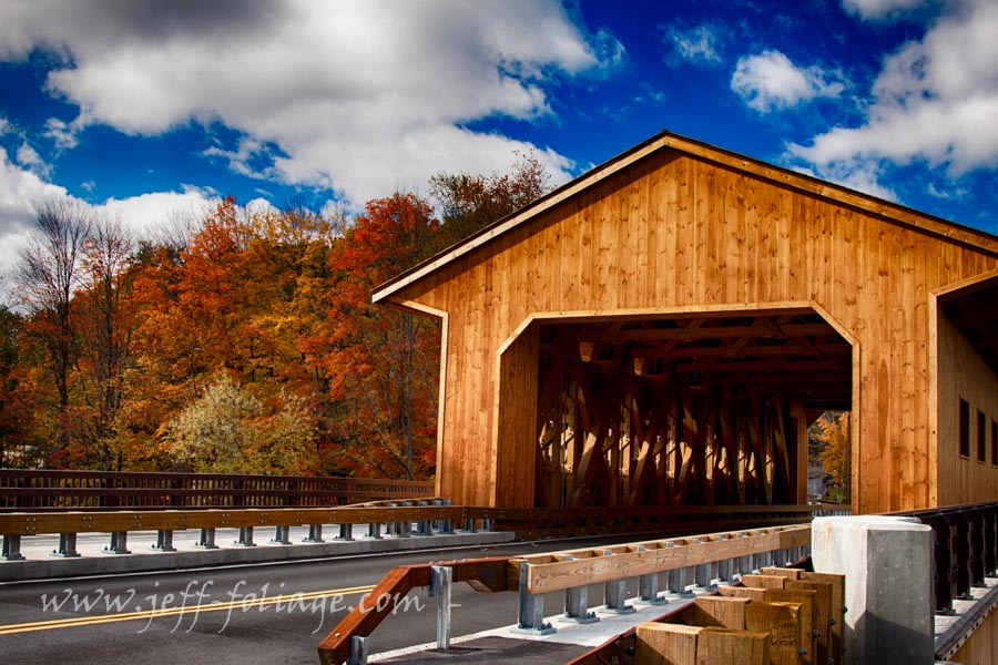 Pepperell Covered Bridge spanning Nashua River in East